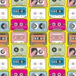Royalty-Free Stock Vector Image: Music tape seamless pattern