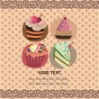Cake card — Vettoriali Stock