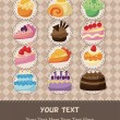 Cake card — Stock vektor