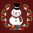 Cute christmas card — Stockvectorbeeld