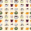 Seamless coffee pattern — Stock Vector #8037149