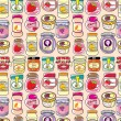Seamless jam pattern - Image vectorielle
