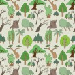 Seamless tree pattern — Stock Vector