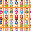 Seamless Russian dolls pattern — Stock Vector #8037635