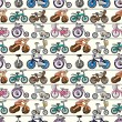 Stock Vector: Seamless bicycle pattern