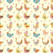Seamless bird pattern - Stock Vector
