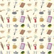 Seamless Kitchen pattern — Stock Vector
