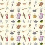 Seamless Kitchen pattern — Stock Vector #8037808