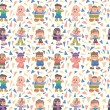 Stock Vector: Seamless child pattern