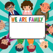 Royalty-Free Stock Vector Image: Family card