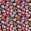 Seamless love heart pattern - Stok Vektör