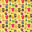 Seamless birthday pattern — 图库矢量图片