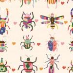 Seamless bug pattern — Stock Vector #8037946