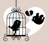Bird cry card — Stock Vector