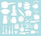 Kitchen pattern — Stock Vector