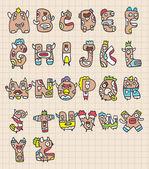 Monster letters — Stock Vector