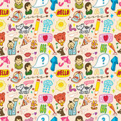 Funny thing seamless,pattern(vector) — Stock Vector