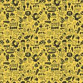 Cute cartoon seamless pattern,vector illustration — Stock Vector