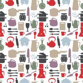 Seamless kitchen pattern,vector illustration — Stock Vector
