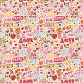 Cute love element seamless pattern — Stock Vector