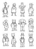 可爱卡通动物医生 — 图库矢量图片