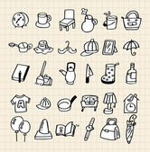 Hand draw home icon — Stock Vector