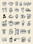 Hand draw coffee element — Vecteur