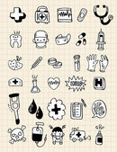 Doodle doctor element,hand draw — Stock Vector
