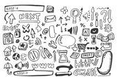 Hand draw web icon,vector — Stock Vector