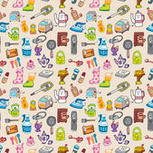 Funny home thing seamless pattern — Stock Vector