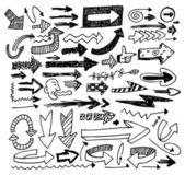 Doodle jeu de flèche — Vecteur