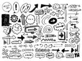 Doodle flecha — Vector de stock