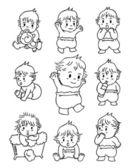 Doodle dítě — Stock vektor