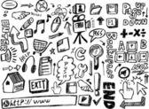 Doodle web — Stockvector