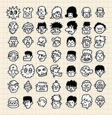 Cute cartoon face — Stock Vector