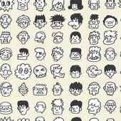 Nahtlose niedlichen Cartoon-Muster — Stockvektor