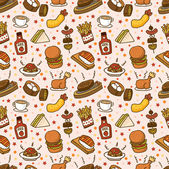 Seamless food pattern — Stock Vector