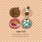 Coffee card — Stock Vector