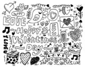 Valentine's Day doodle — Stock Vector