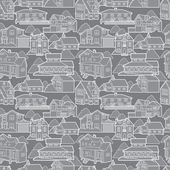 Seamless house pattern — Stock Vector