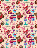 Seamless Valentine's Day pattern — Stockvector