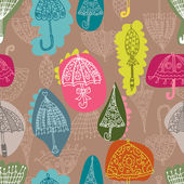 Seamless umbrella pattern — Stock Vector