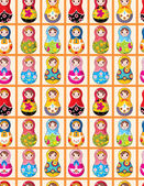 Seamless Russian dolls pattern — Stock Vector