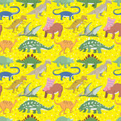 Seamless Dinosaur pattern — Stock Vector