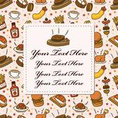 Restaurant card — Stock Vector