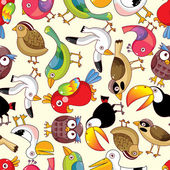 Seamless bird pattern — Vecteur