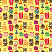 Seamless birthday pattern — Vector de stock