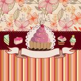 蛋糕卡 — 图库矢量图片