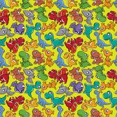Seamless Dinosaurs pattern — Stock Vector