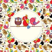 Cartoon bird card — Stock Vector
